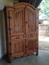 Rustic Pine Armoire-Entertainment Center-Wardrobe in Lackland AFB, Texas