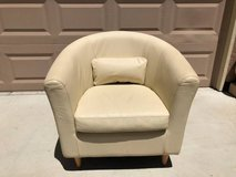 MidCentury Style Cream Leather Club Chair in Travis AFB, California