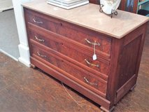 Walnut Dresser with Marble Top (Eatonton) in Byron, Georgia