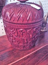 Hand Carved Wooden Container (Eatonton) in Warner Robins, Georgia