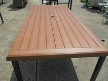 "Long ""Wood"" Outdoor Dining Table in Bartlett, Illinois"