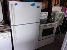 Frigidaire Refrigerator and Kenmore Glass Top Electric Stove Set in Fort Riley, Kansas