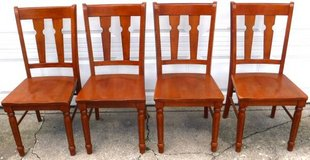 SALE PENDING - 4 Solid Wood Kitchen / Dining / Chairs in Chicago, Illinois