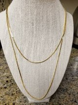 New dual chain gold plated necklace in Vista, California