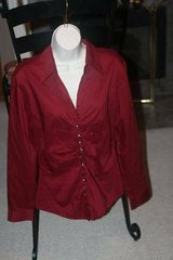 New York Co Red Blouse Top Large in Spring, Texas