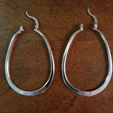 nwot ~ large sterling silver oval hoop earring in Naperville, Illinois