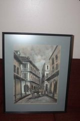 New Orleans Charcoal Painting Signed in Spring, Texas