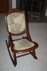 Antique Folding Wood Rocking Chair in Spring, Texas
