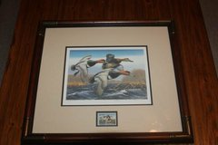 1988 A. Anderson Numbered & Framed Federal Duck Stamp Print in Spring, Texas