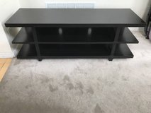Dark Brown Three Level Open Ended TV Stand in Joliet, Illinois