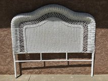 White Wicker Queen Size Headboard in Vacaville, California