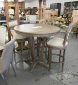 SALE Merchandise Mart Floor Sample - Tall Pub or Bar Height Table and 3 Different Chairs in Elgin, Illinois