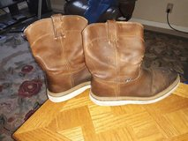 Size 12 Justin, Steel-Toe Leather Work Boots in Vacaville, California