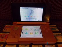 nintendo original 3ds pearl pink system+50 ds games and charger in Brookfield, Wisconsin