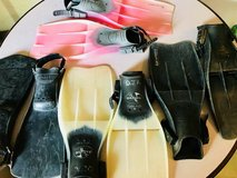 FOUR PAIRS OF SNORKELING FINS in Sugar Grove, Illinois