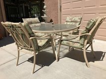 5-Pc Glass Top Patio Set in Travis AFB, California