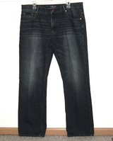 Aeropostale Relaxed Straight Denim Blue Jeans Mens Tag 36x34 Measures 36 x 32 in Morris, Illinois