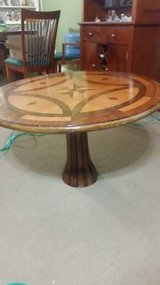 Wood Occasional Table w/Star inlay in Cleveland, Texas