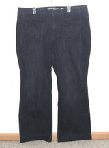 Style Co Flare Jeans Plus 20w x 32 Tall Stretch Dark Blue Button Flap Pockets in Yorkville, Illinois