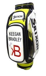 NEW!!! Keegan Bradley Autographed Srixon White/Lime/Black Leather Staff Golf Bag in Naperville, Illinois