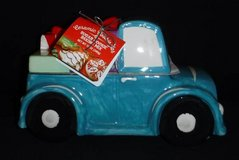 New! Ceramic Cookie Jar - Pickup Truck w/Christmas Wreath + Gifts in Wheaton, Illinois