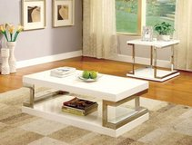 New White with Chrome Accents Coffee Table FREE DELIVERY in Vista, California