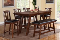New! Counter Height Dining Set Table + 4 Chairs + Bench FREE DELIVERY in Vista, California