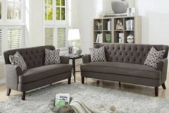 New! Ash Black Dorris Fabric Sofa and Loveseat FREE DELIVERY in Vista, California