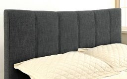 New! QUEEN Ennis GRAY Linen Padded Bed Frame FREE DELIVERY in Vista, California