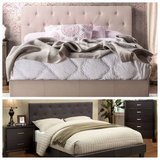 New King or California Tufted Bed Frame FREE DELIVERY in Vista, California