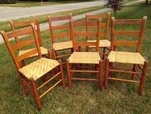 Six Smaller Shaker Ladder Back Chairs in New Lenox, Illinois