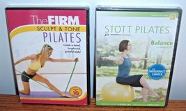 NEW Lot of 2 Pilates The Firm Sculpt Tone Stott Core Balance Exercise DVDs in Morris, Illinois
