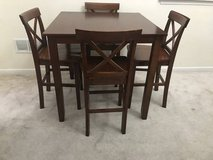 5pc Cherry Finish Counter Height/Pub Table Set in New Lenox, Illinois