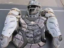 All Star Baseball Catchers Helmet, knee pads, chest protector in Wilmington, North Carolina