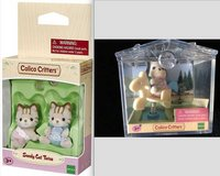 New! Calico Critters Sandy Cat Twins Set + Puppy on Horse Mini Case in Orland Park, Illinois