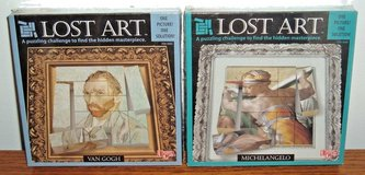 NEW Lot of 2 Vintage 1998 Michelangelo & Van Gogh University Games Lost Art A Puzzling Challenge... in Shorewood, Illinois
