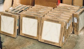 """Cotto 16"""" x 16"""" Tampa Ivory Ceramic Floor Tile - 320 Square Feet in Plainfield, Illinois"""
