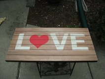 WOOD SIGN BY HOBBY LOBBY THE THEME IS LOVE in Tinley Park, Illinois
