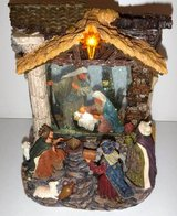 Motorized Musical Snow Globe Christmas Nativity Jesus Mary Joseph in Wheaton, Illinois