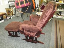 Dutailer Gliding Rocking Chair And Ottoman - Delivery Available in Fort Lewis, Washington