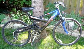 Mens Mongoose Full Suspension Bike in Schaumburg, Illinois