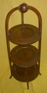 Vintage Wood Display Stand in Chicago, Illinois