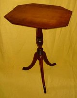 Vintage Octagon Top Accent Table in Chicago, Illinois