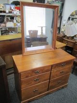 Very Nice Solid Wood Dresser and Mirror - Delivery Available in Fort Lewis, Washington