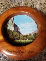 Yosemite 1960's Souvenir wood wall plaque in Camp Pendleton, California