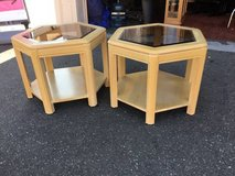 Set of Two Bleached Oak End Tables - Delivery Available in Fort Lewis, Washington