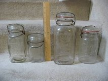 4 antique glass canning jars in Fort Carson, Colorado