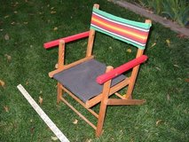 Antique 1960s Child's wooden folding lawn chair in Colorado Springs, Colorado