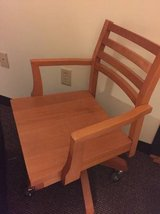Wooden Office Chair $10 in Brockton, Massachusetts