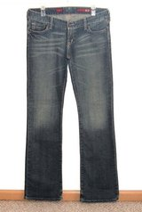 Express X2 W01 Boot Cut Denim Jeans Womens 8L 8 x 33 Long Tall Stretch Low Rise in Yorkville, Illinois
